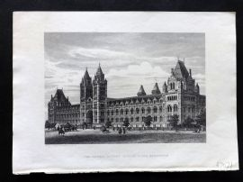 Cassell's Old and New London C1878 Print. Natural History Museum, Kensington